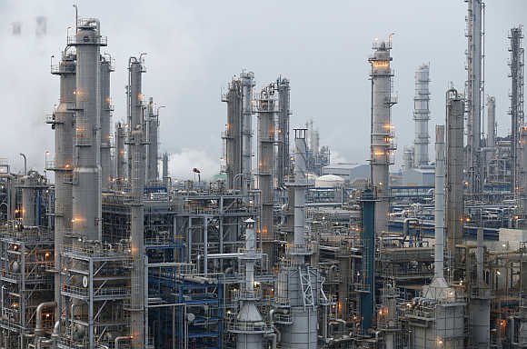 A petrochemicals plant in Seosan, about 150km south of Seoul, South Korea.