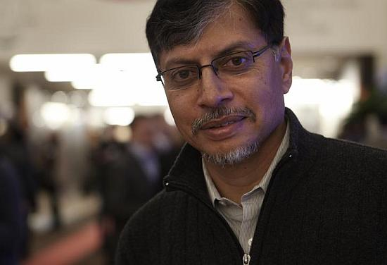 Phaneesh Murthy, former president and CEO of iGate, poses during the World Economic Forum.