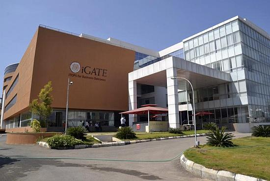 A view shows the headquarters of iGate in Bangalore.