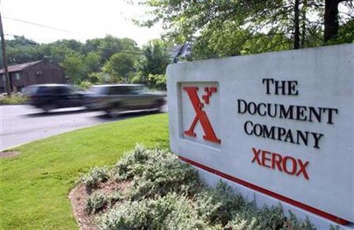 The entrance to Xerox headquarters in Stamford, Connecticut.