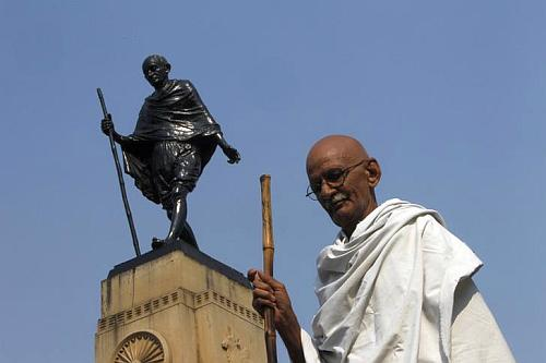 Mahatma Gandhi has been an influence on Premji.