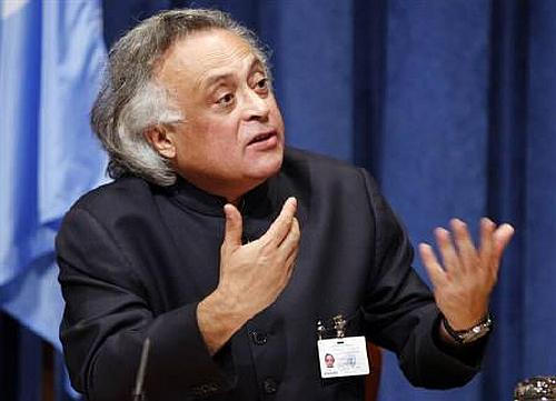 Rural Development Minister Jairam Ramesh. He feels that spending cuts would hit housing and road construction in rural areas.