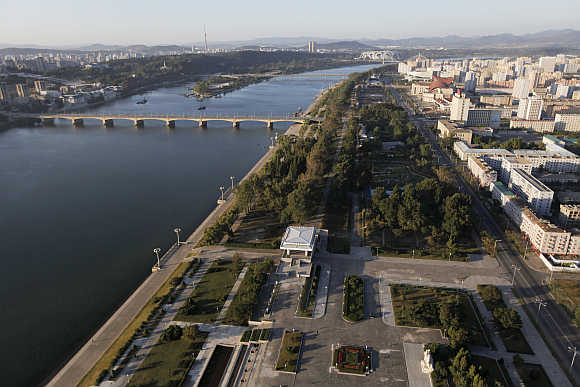 A view of North Korean capital Pyongyang.