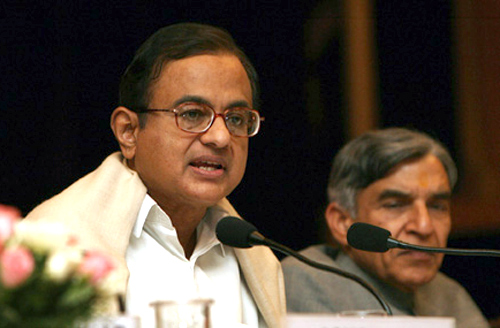 Finance Minister P Chidambaram.