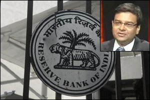 RBI logo and Urjit Patel