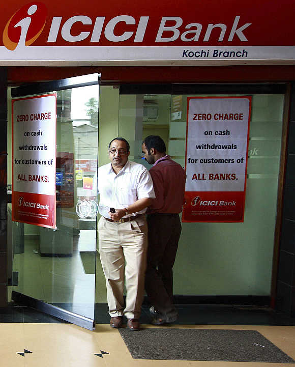 An automated teller machine facility of ICICI bank in Kochi.