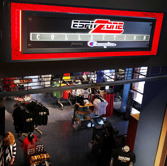 ESPN Zone restaurant in Times Square, New York.