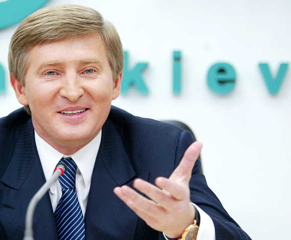 Rinat Akhmetov in Kiev, Ukraine.
