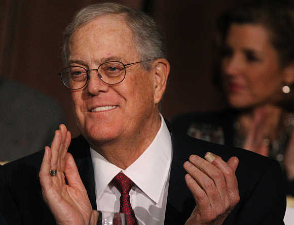 David Koch in New York.