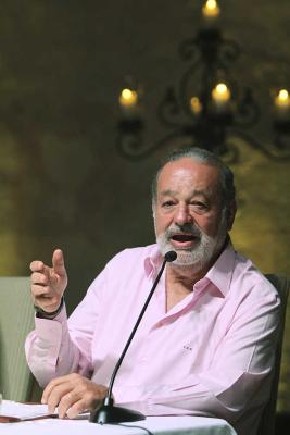 Carlos Slim in the Caribbean port of Cartagena.