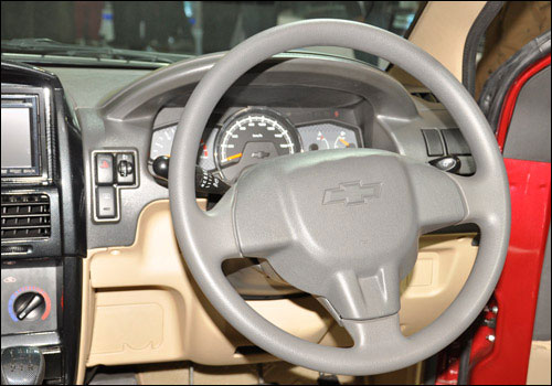 Interiors of Chevrolet Tavera.