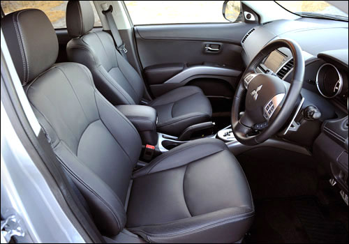Interiors of Mitsubishi Outlander.