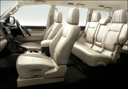 Interiors of Mitsubishi Montero.