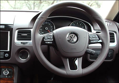 Interios of Volkswagen Touareg.