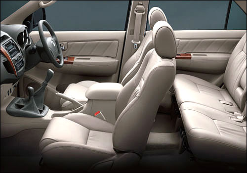 Interiors of Toyota Fortuner