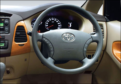 Interiors of Toyota Innova.