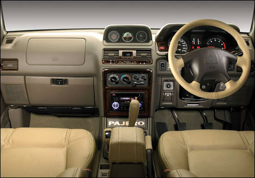 Interiors of Mitsubishi Pajero.