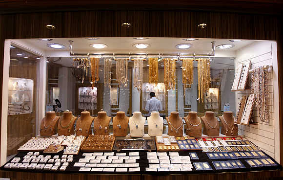 A jewellery store at Gold and Diamond Park in Dubai.