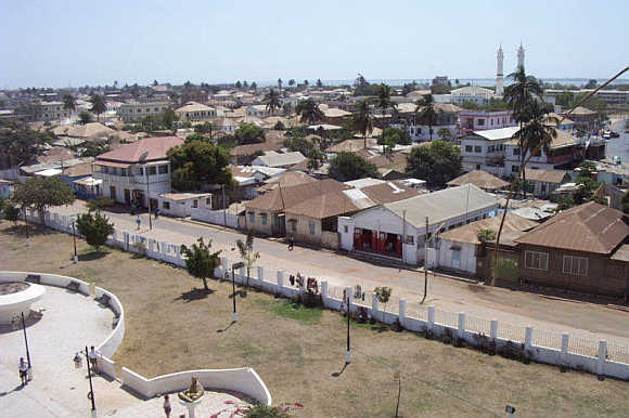 A view of capital Banjul, Gambia.