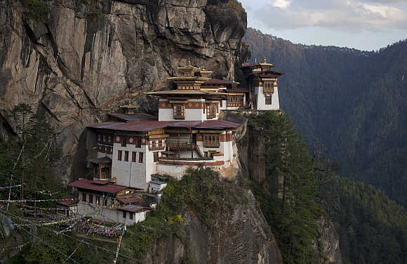 ParoTaktsang Palphug Buddhist monastery, also known as the Tiger's Nest, in Paro district, Bhutan.