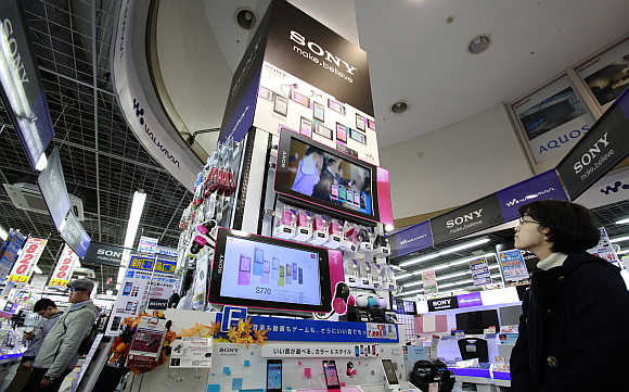 An electronics store in Tokyo.