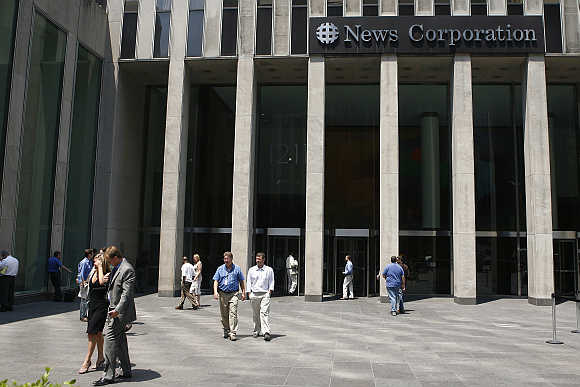 News Corporation building in New York.
