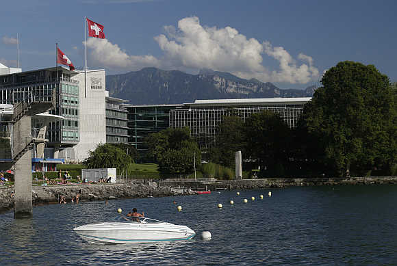 Headquarters of food giant Nestle in Vevey, Switzerland.