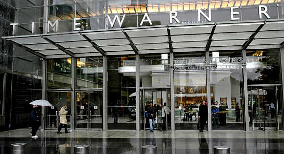 Time Warner headquarters building at Columbus Circle in New York.