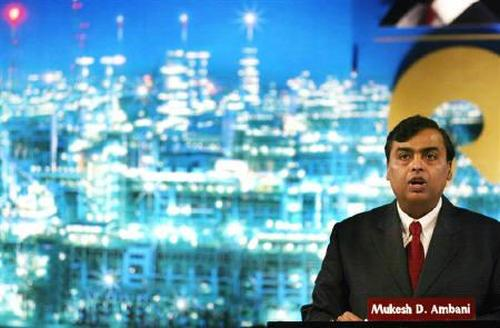 Reliance Industries Chairman Mukesh Ambani addresses shareholders in Mumbai
