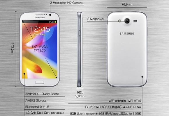 5-inch Samsung Galaxy Grand.