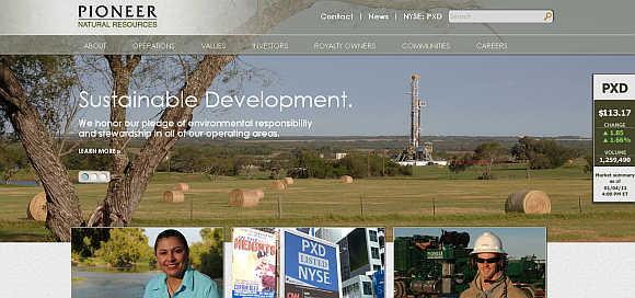 Pioneer Natural Resources.