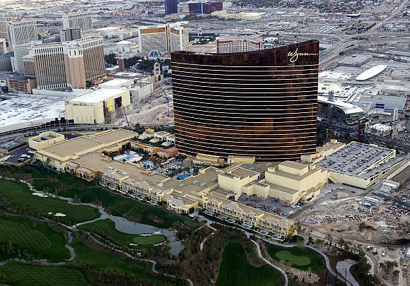 A view of the Wynn Las Vegas resort.