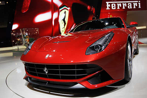 Ferrari F12 Berlinetta in Beijing.