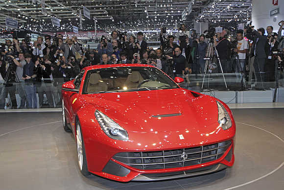 Ferrari F12 Berlinetta in Geneva.
