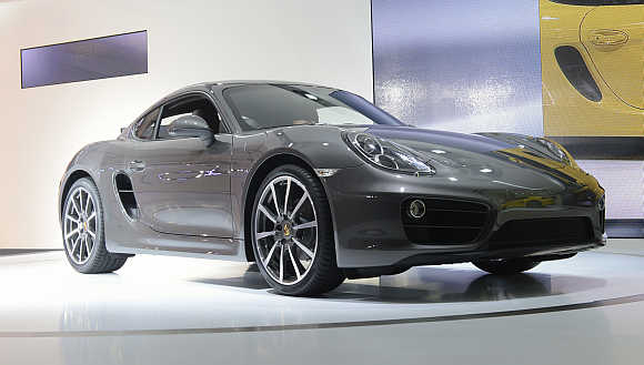 2013 Porsche Cayman in Los Angeles.