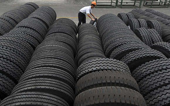 A tyre factory in Hefei, Anhui province, China.