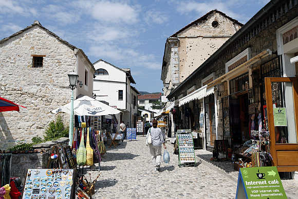 A view of the Old City in the southern Bosnian city of Mostar.