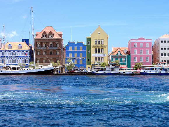 Willemstad harbour in Curacao.