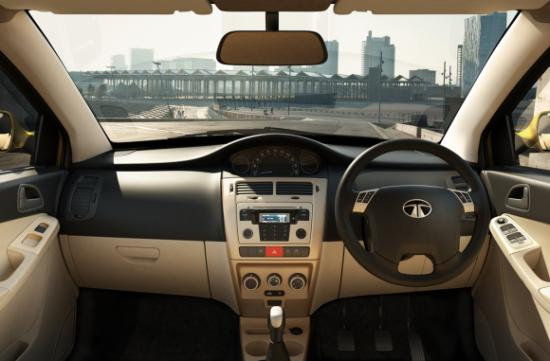 Interior of Tata Indica Vista.