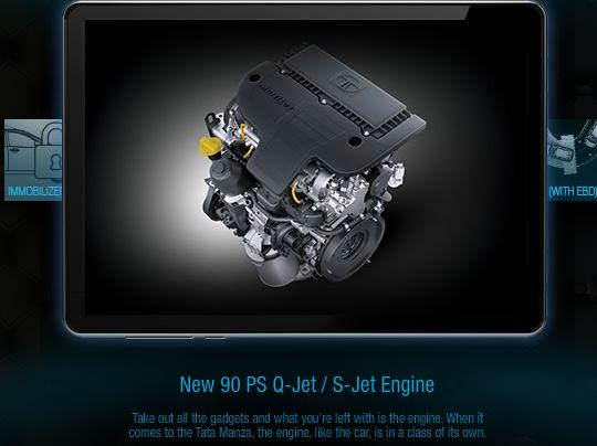 90PS Q-jet engine that powers Tata Manza Club Class sedan.