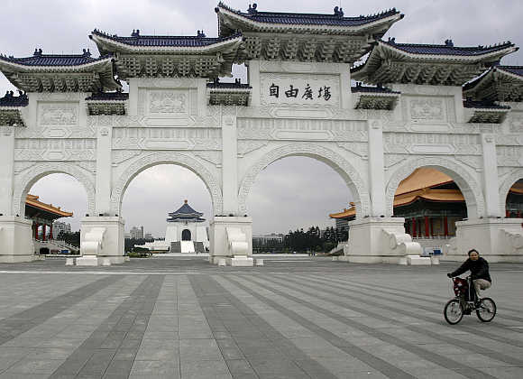 Chiang Kai-shek Memorial hall in Taipei.