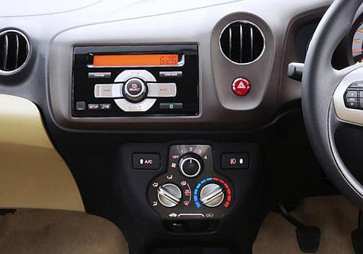 Interior of Honda Brio.
