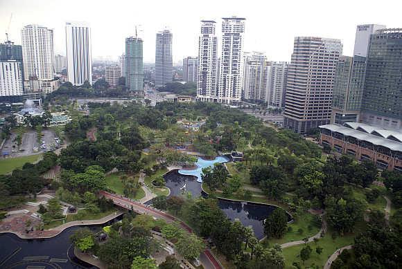 KLCC Park in central Kuala Lumpur.