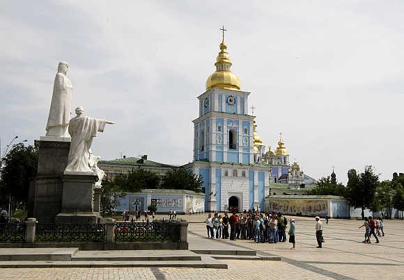 Mikhailovskaya Square in Kiev.