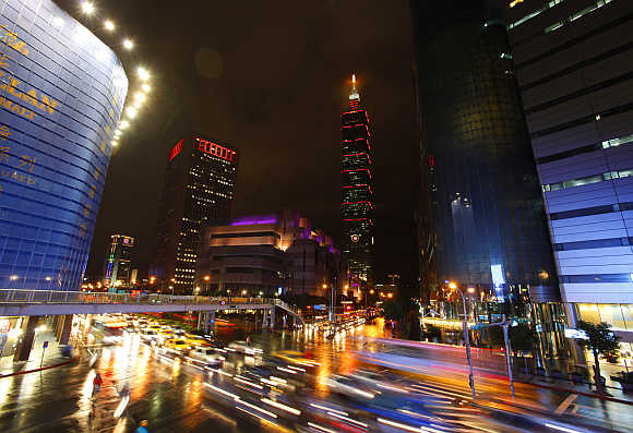 Taipei's financial district.