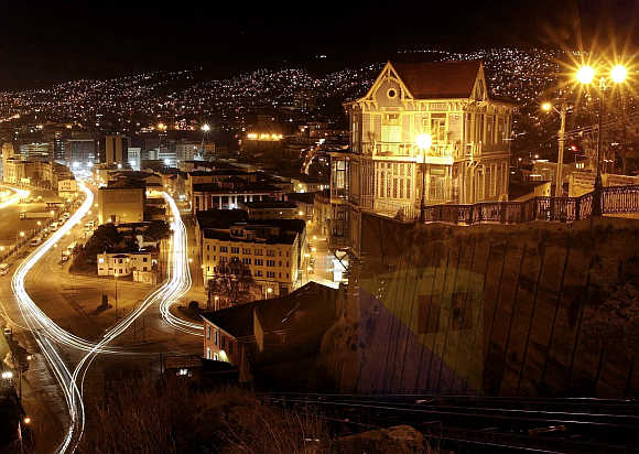 A view of Valparaiso city, northwest of Santiago, Chile.