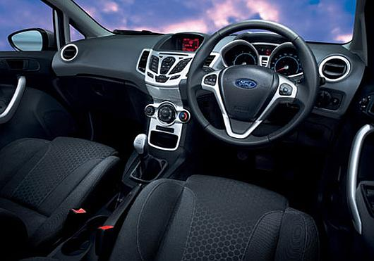 Interior of Ford Fiesta.