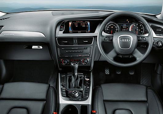 Interior of Audi A4.