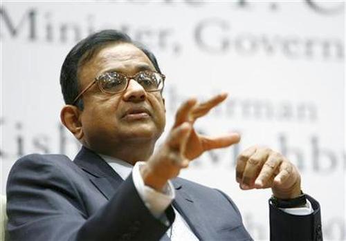 Finance Minister P. Chidambaram.