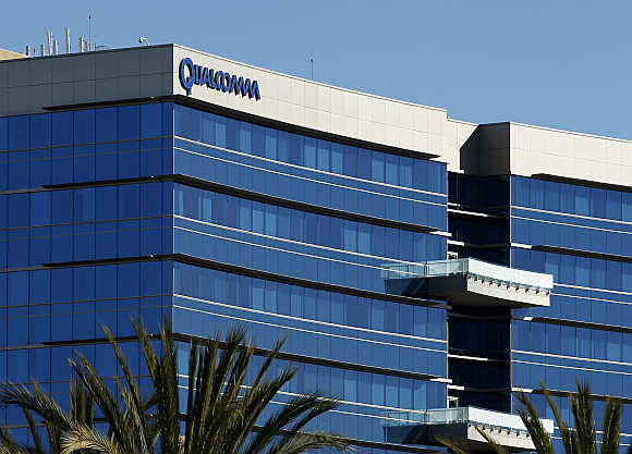 A view of Qualcomm's San Diego Campus in California.